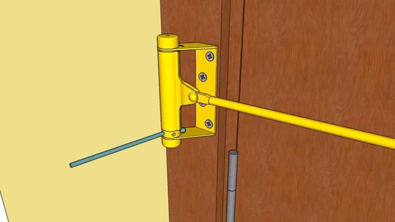 Как сделать пружину для двери 114