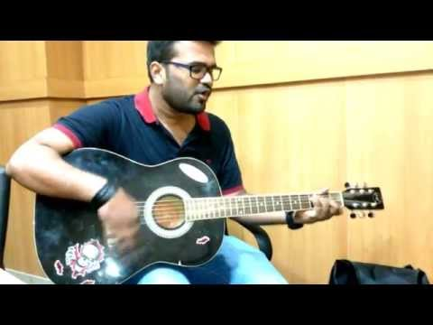 Aashique movie-Dheere Dheere se meri zindagi me aana guitar...