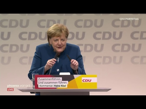 Angela Merkels letzte Rede als CDU-Parteivorsitzende am 07.12.18