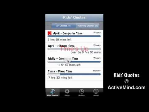 Kids' Quotas - Activity Time Tracker