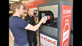 Iceland trials reverse vending machine which pays you to recycle