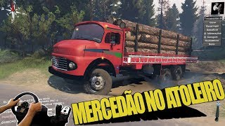 MERCEDES 12-16 CARREGADO E MUITA LAMA - SPIN TIRES - VOLANTE G27