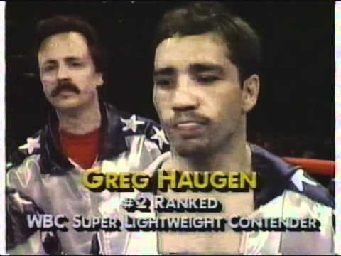 Julio Cesar Chavez VS Greg Haugen Round #1