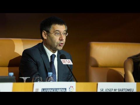 Josep Maria Bartomeu apuesta por la educación para luchar contra la piratería audiovisual