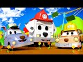 Car garage for kids -  Baby Jeremy and Baby Matt are Rubble & Rocky of Paw Patrol - Cars cartoon