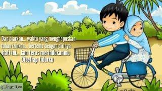 "Cinta kita memang tak sempurna ""maafkanlah"" cover akustik with animasi kartun and lirik."
