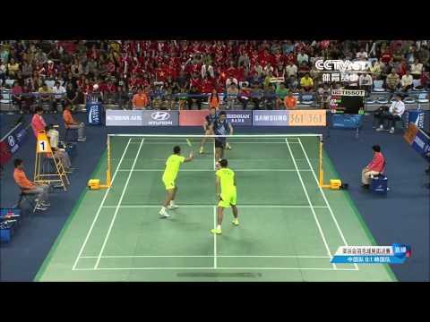 17th Asian games team Final MD1 Xuchen/Zhang nan【VS】Lee Yong dae/Yoo Yeon seong