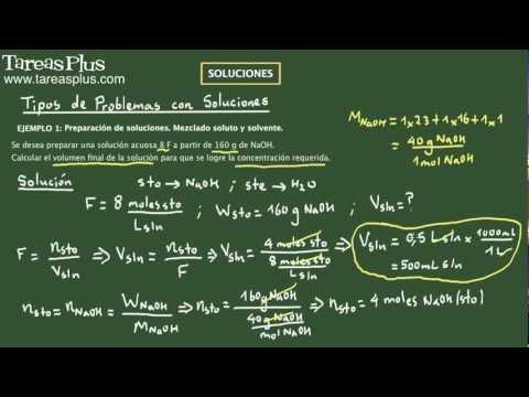 Soluciones (mezcla de soluto y solvente)