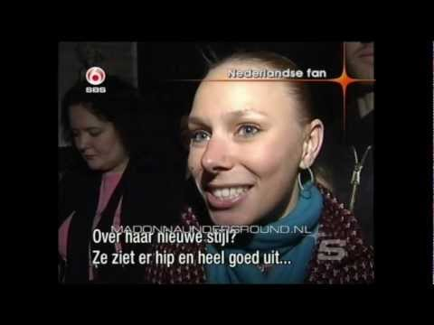 Madonna Confessions On A Dance Floor promo tour KOKO album launch London 2005 SBS6 TV news report