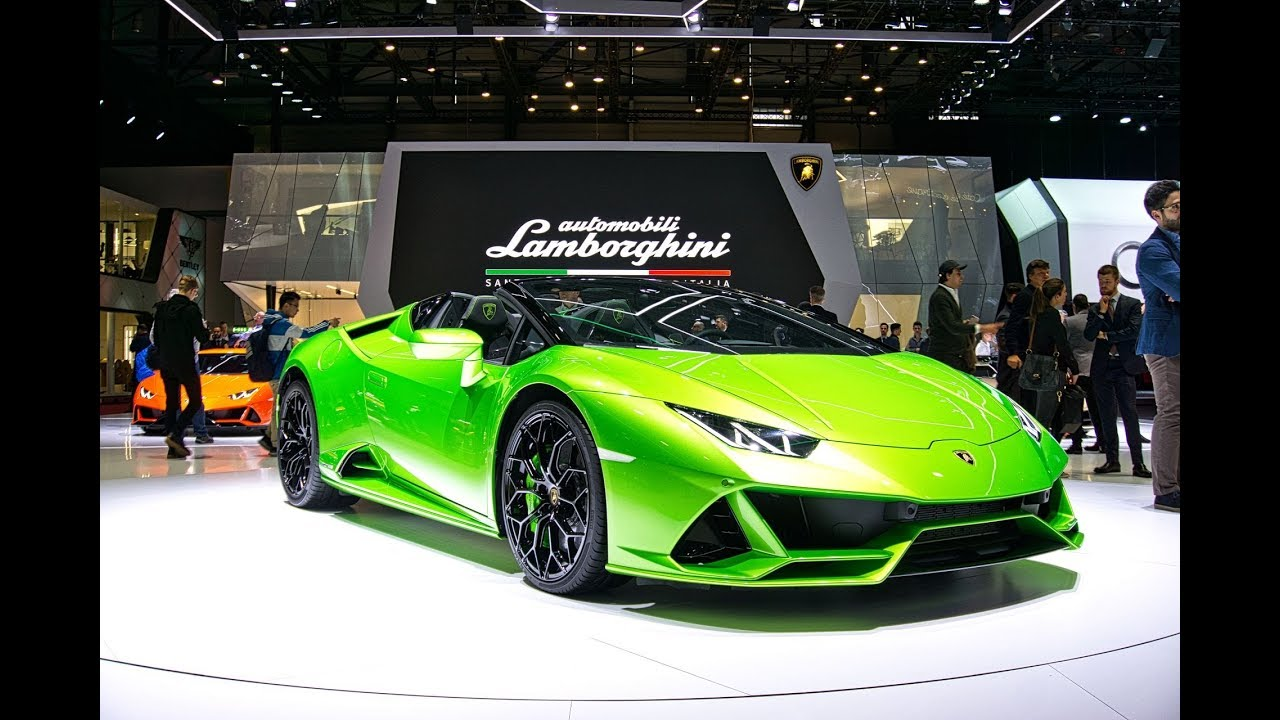 The New Lamborghini Huracán Evo Spyder FIRST LOOK  at Geneva International Motor Show 2019