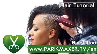 Hair Tattoo. Hair Tattoos.How to Hair Tattoo № 4  parikmaxer TV USA