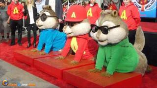 Alvin & The Chipmunks Hand & Footprint Ceremony in Hollywood
