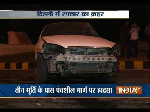 Speeding Xylo Car Hits Indigo In Delhi - India TV