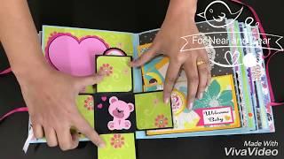 Beautiful Baby Album / Boy or Girl / Handmade Baby Journal / Baby shower gift / Pregnancy  Journal