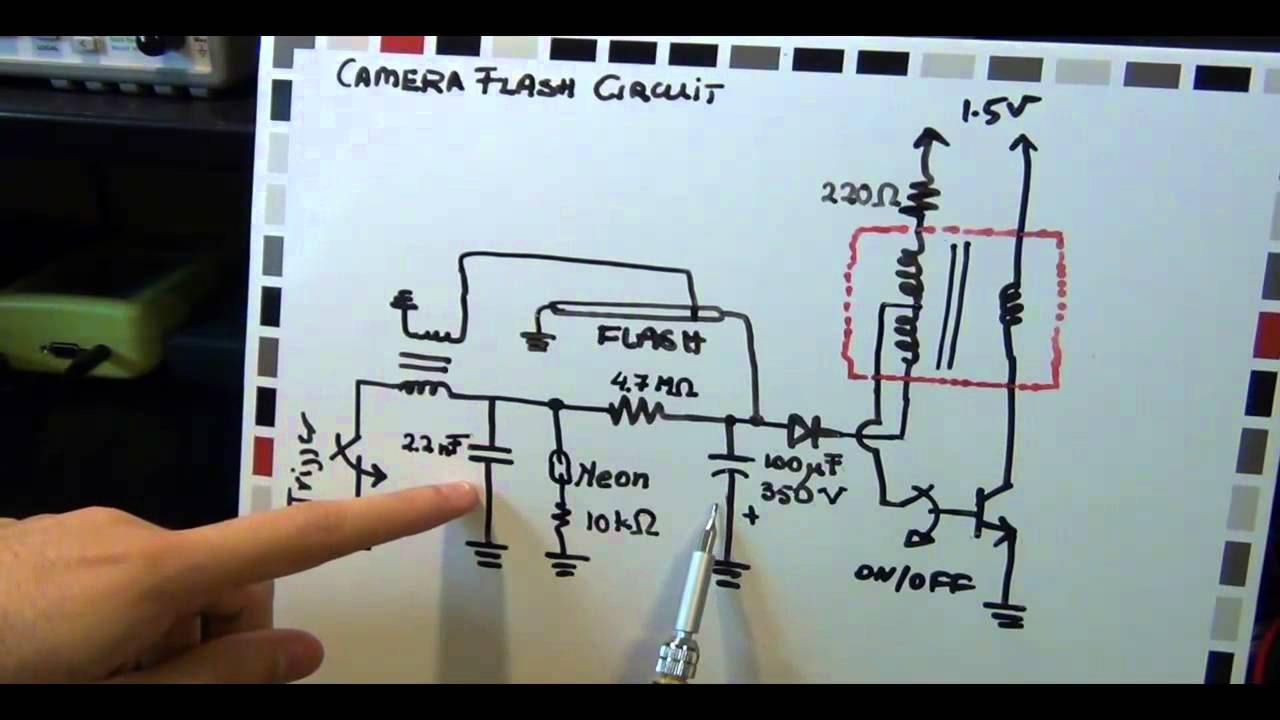 led power driver wiring diagram camera flash circuit and nixie tube tutorial  part 2 3  camera flash circuit and nixie tube tutorial  part 2 3