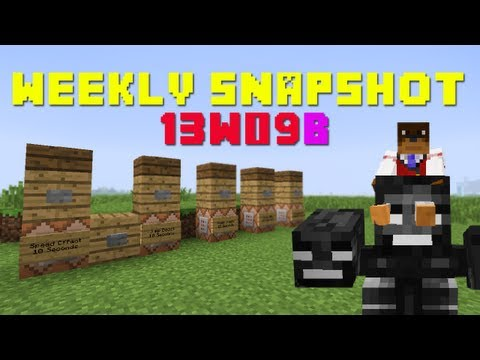 Minecraft Snapshot 13w09b - How To Ride Any Mob & /Effect ! ! !