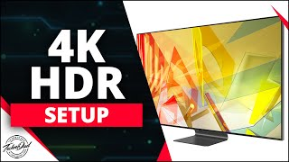 03. Samsung Q90T 4K HDR Setup Xbox One X, PS4 Pro Q70T, Q80T, Q800T, Q900T PS5 Xbox Series X How To