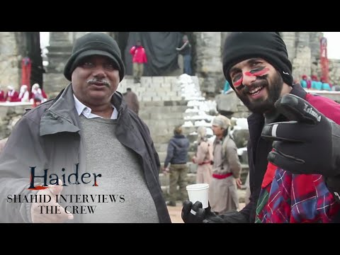 Shahid Kapoor Introduces Team Haider | On The Sets Of Bismil