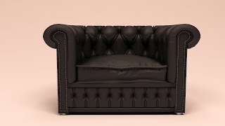 Tutorial - 3Ds max modeling a leather sofa .