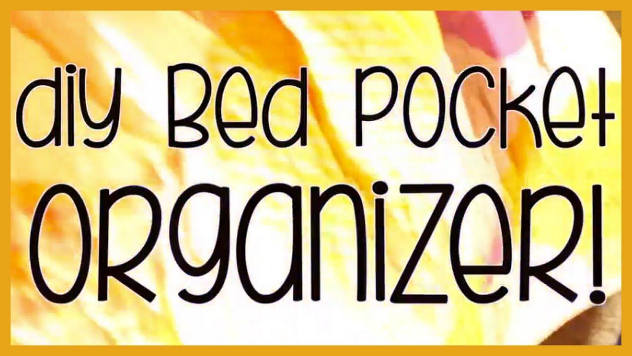 Bed Caddy Organizer Diy Bed Pocket Organizer