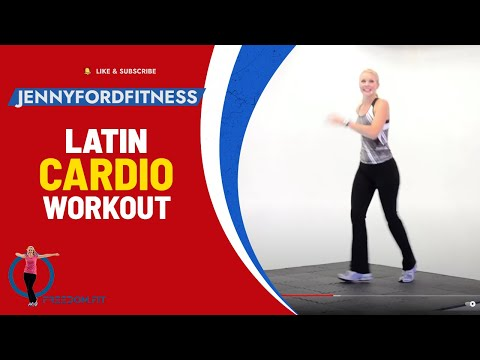 Latin Zoom DANCE FITNESS EXERCISE WORKOUT- JENNY FORD