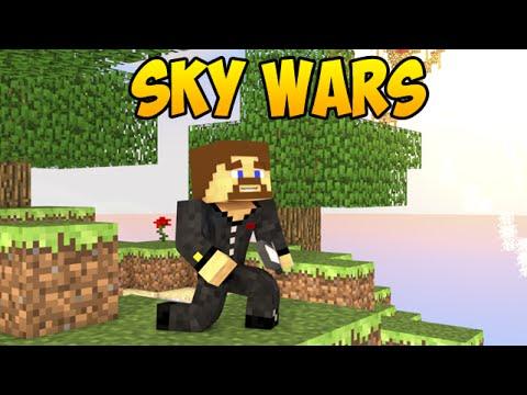 Евгеха и жесткие битвы на островах - Minecraft SkyWars #4