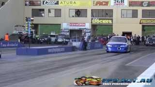 C&V PERFORMANCE V8 TURBO UTE 7.11 @ 195 MPH SYDNEY DRAGWAY 25.10.2014