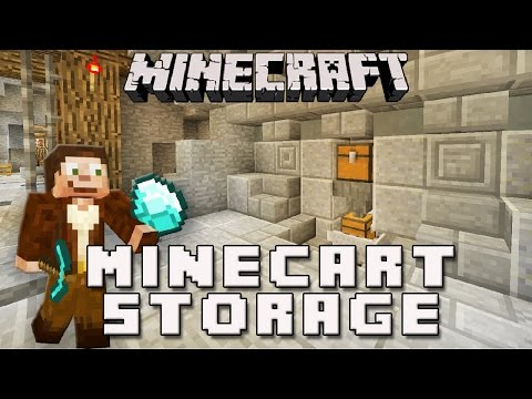 Minecraft: Minecart Storage System For A Diamond Mine   (Scarland Survival Base Ep.11)