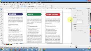Membuat pemplet/brosur dengan menggunakan CorelDraw X6