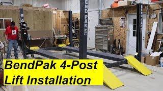 BendPak 4 Post Lift Install