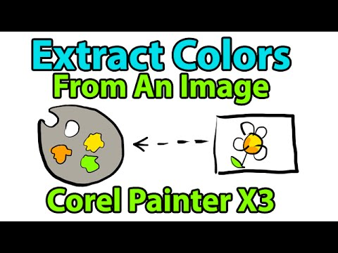 Extract Color Set from a Photo [PAINTER X3 NEW FEATURE]