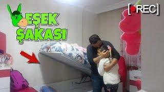 Uykuda Eşek Şakası Bed Moving Sleeping Prank!