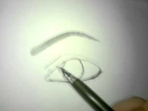 شرح كيفية رسم العين