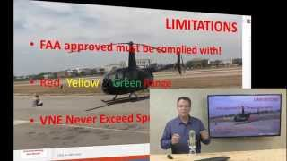 Robinson R44 Helicopter Training Video Limitations Excerpt from Online Ground School