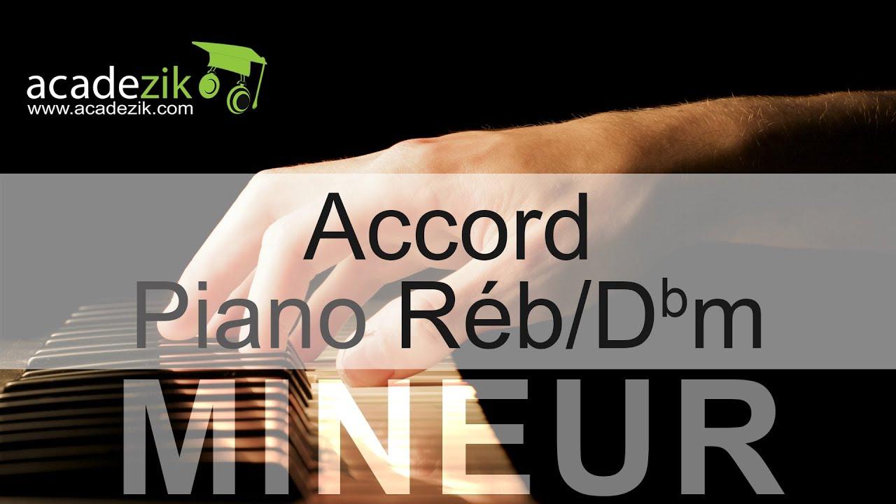 D Flat Chord Piano Accord piano Re