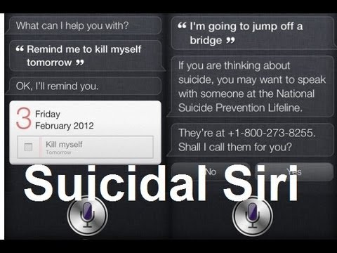 Siri Tries To Help Those Contemplating Suicide