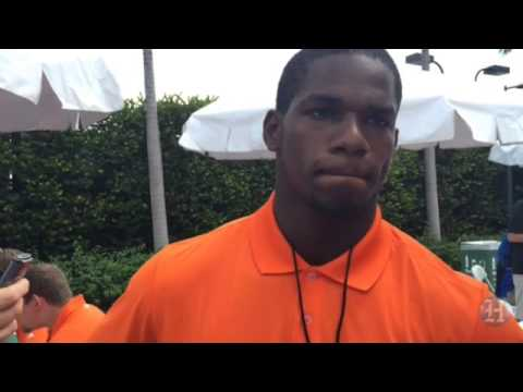 UM Hurricanes Football Media Day: Freshman RB Mark Walton