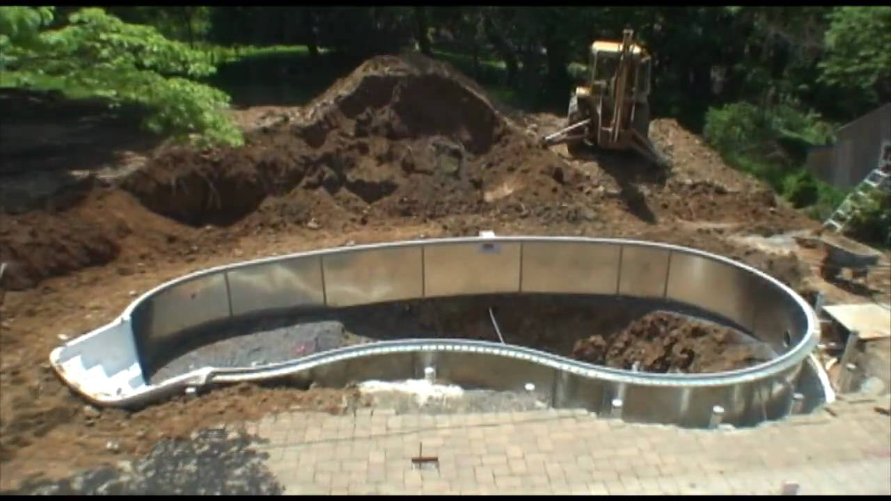Swimming pool construction time lapse youtube for In ground swimming pool contractors