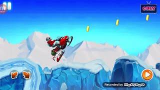 Chơi Xe Mô Tô Trượt Tuyết Lụm Vàng - Cu Lỳ chơi game vui nhộn snow motobike