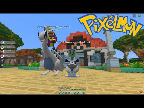 Crew Pixelmon -  MY FIRST LEGENDARY! (Episode 5 - Minecraft Pokemon Mod)
