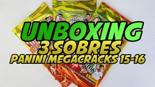 UNBOXING: **WORLD PREMIERE** 3 Sobres Panini Megacracks 2015-2016
