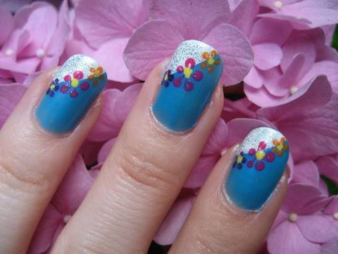 Tropical Flowers Inspired Nail Tutorial