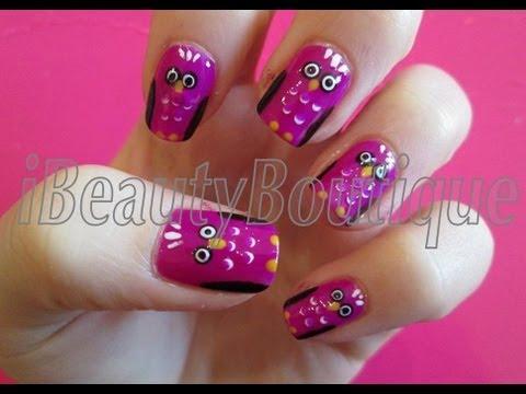 Nail Art - Owls