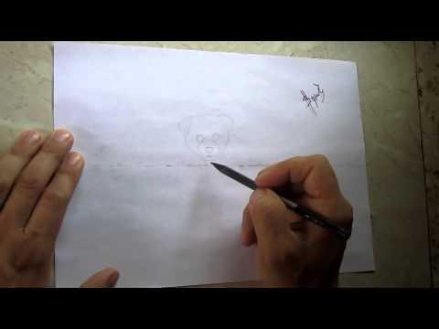 Видео как нарисовать котёнка и щенка