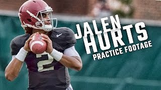 See how freshman QB Jalen Hurts is looking in fall practice