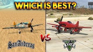 GTA 5 P-45 NOKOTA VS GTA SAN ANDREAS RUSTLER : WHICH IS BEST?