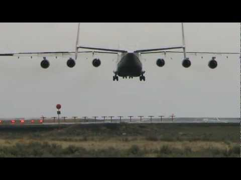 Largest Flying Aircraft Antonov An-225 Crosswind Landing!!!