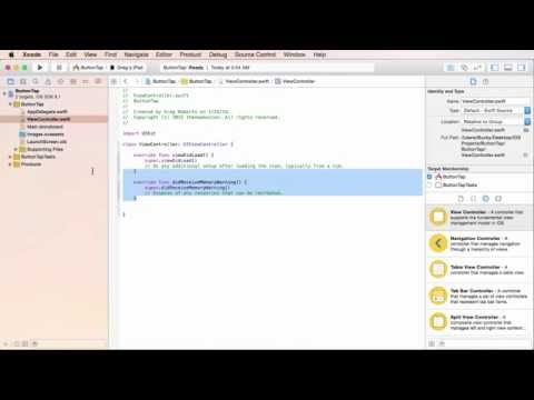iOS Development with Swift Tutorial - 8 - User Interaction