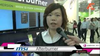 MSI Afterburner overclocking utility at Computex 2011