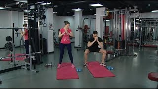 Югорский фитнес-инструктор показал упражнения для похудения